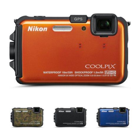 Nikon AW100 16MP Waterproof Digital Camera - Various Colors