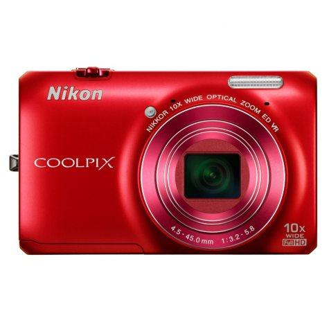 Nikon Coolpix S6300 16MP Digital Camera - Red