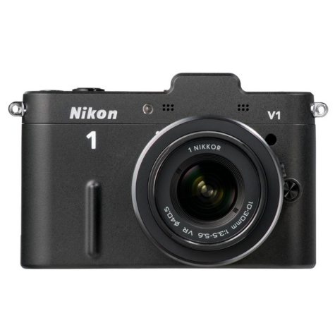 Nikon V1 10.1MP Mirrorless Digital Camera with 10-30mm and 30-110mm Lenses - Black