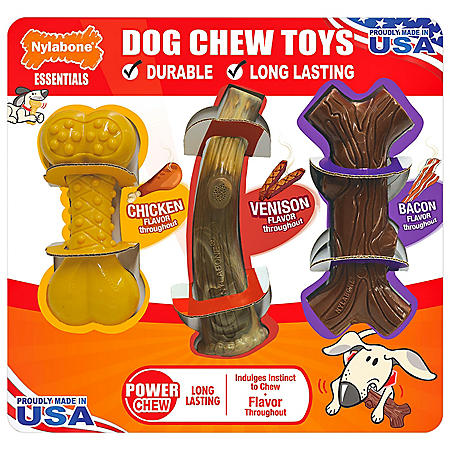 Nylabone Essentials Dog Chew Toys (3 pk.)