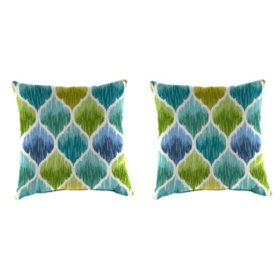 Outdoor Throw Pillows, Set of 2 (Assorted Styles)