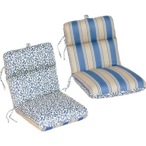 Replacement Patio Chair Cushion - Verti Cadet w/ Hamilton Stripe Cadet