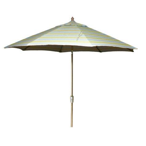 9' Aluminum Market Umbrella - Mainland Surf Stripe