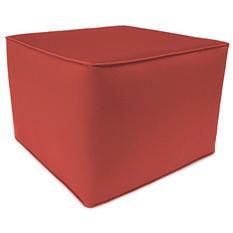 Sunbrella Square Poof Ottoman, Various Colors