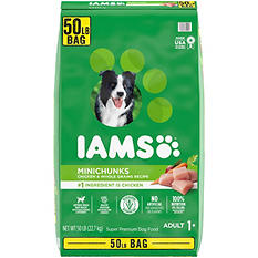 Iams Adult ProActive Health Minichunks Chicken Dry Dog Food (50 lbs.)