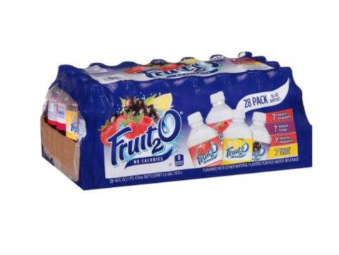 Fruit2O Flavored Purified Water Beverage Variety Pack - 16 oz. bottles - 28 pk.