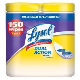 Lysol Dual Action Wipes - Citrus Scent - 2 pk. - 75 ct. each