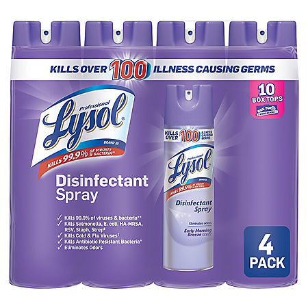 Lysol Disinfectant Spray, Early Morning Breeze (4 pk., 19 oz. each)