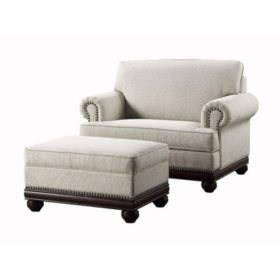 Terrific Members Mark Grayson Oversized Chair And Storage Ottoman Machost Co Dining Chair Design Ideas Machostcouk