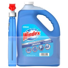 Windex Original Glass Cleaner (128 oz. Refill + 32 oz. Trigger)