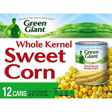 Green Giant Whole Kernel Sweet Corn (15.25 oz. cans, 12 ct.)