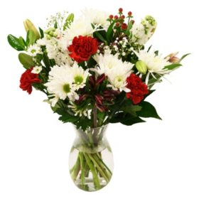 Red & White Valentine's Day Bouquet
