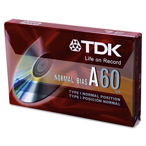 TDK - Standard Grade Audio & Dictation Cassette, Normal Bias - 60 Minutes (30 x 2)