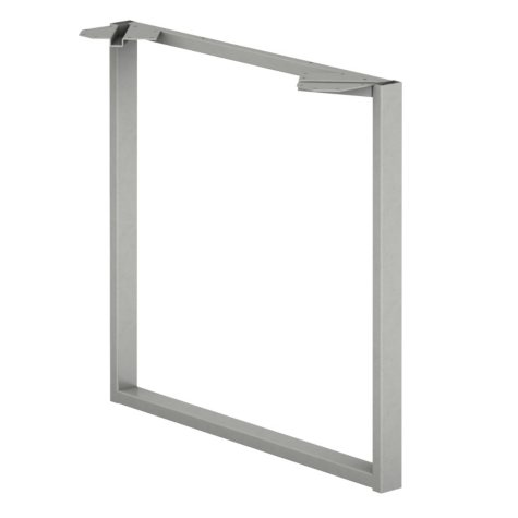 HON Voi O-Leg Support for Work Surface - Platinum Metallic