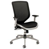 HON - Boda Series High-Back Work Chair, Mesh Seat and Back - Black