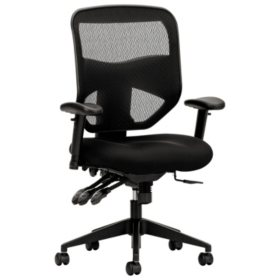 basyx VL532 Series High-Back Task Mesh Chair, Black