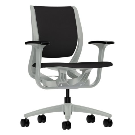 HON Purpose Upholstered Flexing Task Chair, Iron Ore/Platinum