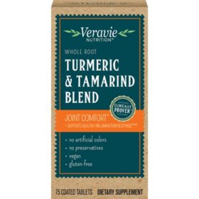 Veravie Turmeric & Tamarind Blend Joint Comfort Supplement Tablets (75 ct.)