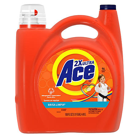 Ace Liquid 2X Clean Breeze - 96 Loads