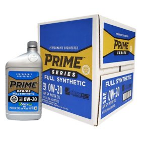 Prime Series Full Synthetic Motor Oil SAE 0W-20
