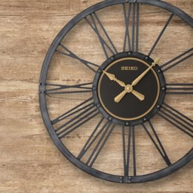 "Seiko 24"" Bennett Farmhouse Clock"