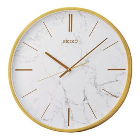 "Seiko 16"" Marble-Look Wall Clock (Assorted Colors)"