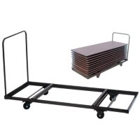 Correll 8' Flat Stacking Table Truck, Walnut Brown