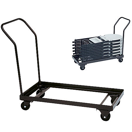 "Correll 40"" Steel Chair Truck, Walnut Brown"