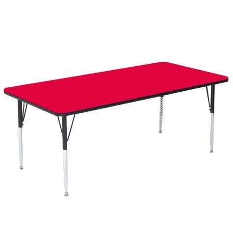 Correll 6' Rectangle Plastic Activity Table, Select Color