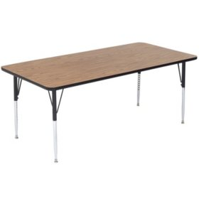 Correll 5' Rectangle-Shaped Activity Table, Select Color