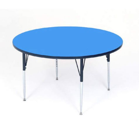 "Round School Activity Table - 48"" - 16"". to 25""."
