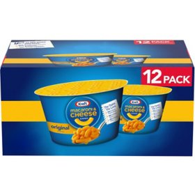Kraft Easy Mac Macaroni & Cheese Cups (2.05 oz., 12 ct.)