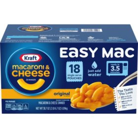 Kraft Easy Mac Microwavable Macaroni & Cheese (2.15 oz., 18 ct.)