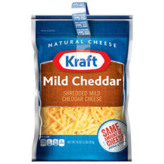 Kraft Mild Cheddar Shredded Cheese (16 oz., 2 pk.)