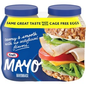 Kraft Creamy and Smooth Real Mayo (30 oz., 2 pk.)