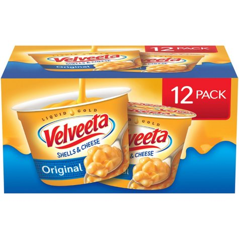 Velveeta Shells and Cheese, Single Serve Cups (2.39 oz. cups, 12 ct.)