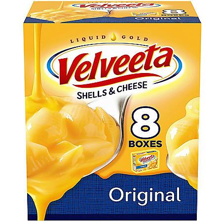 Velveeta Original Shells & Cheese (12 oz., 8 pk.)