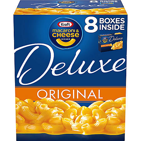 Kraft Deluxe Original Cheddar Macaroni and Cheese Dinner (14 oz., 8 pk.)