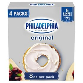 Philadelphia Original Cream Cheese (8 oz., 4 pk.)