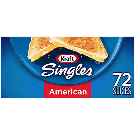 Kraft Singles American Cheese Slices (48 oz. box, 72 ct.)