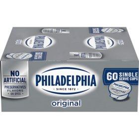 Philadelphia Cream Cheese Single Servings, Bulk Wholesale Case (60 ct.)