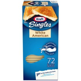 Kraft Singles White American Cheese Slices (48 oz., 72 ct.)