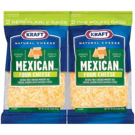 Kraft® Mexican Blend Shredded Cheese - 16 oz. - 2ct.