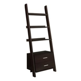 "Bookcase - 69""H Ladder with 2 Storage Drawers, Assorted Colors"