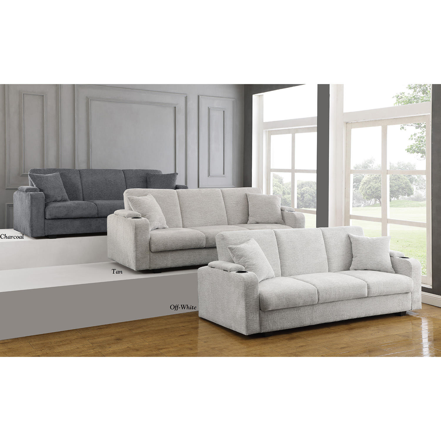 Private Reserve Kenna Upholstered Sofa Bed