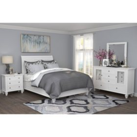 Lillian White Storage Bedroom Set (Assorted Sizes) - Sam\'s Club