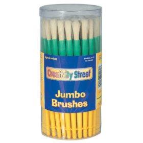 Chenille Kraft Jumbo Paint Brushes, 3 sizes, Pack of 58