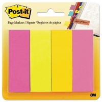 Post-it - Page Markers, 4 Ultra Colors - 4 Pads of 50 Strips Each