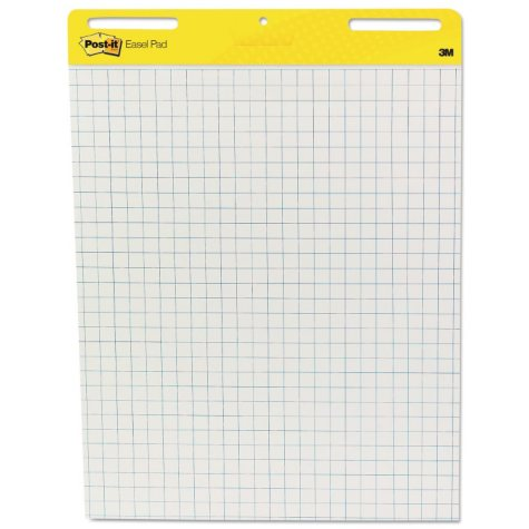 Post-It Self-Stick Easel Pads, Grid Lines, 30 Sheets per Pad, White, Select Quantity