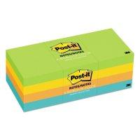 "Post-it Notes Original Pads in Jaipur Colors, 1.5"" x 2"", 12 Pads/Pack"